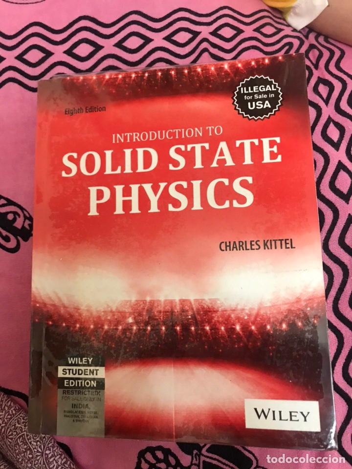 Libros de segunda mano de Ciencias: SOLID STATE PHYSICS Charles Kittel - Foto 3 - 176490154