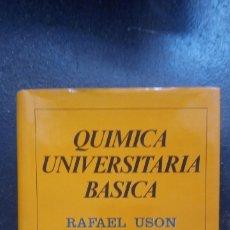 Libros de segunda mano de Ciencias: RAFAEL USÓN: QUÍMICA UNIVERSITARIA BÁSICA. Lote 176550822