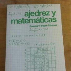 Libros de segunda mano de Ciencias: AJEDREZ Y MATEMÁTICAS /// E. BONSDORFF / K. FABEL / O. RIIHIMAA. Lote 176574967
