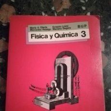 Libros de segunda mano de Ciencias: LIBRO FISICA Y QUIMICA 3 BUP SM FINALES DE LOS AÑOS 80. Lote 176623799