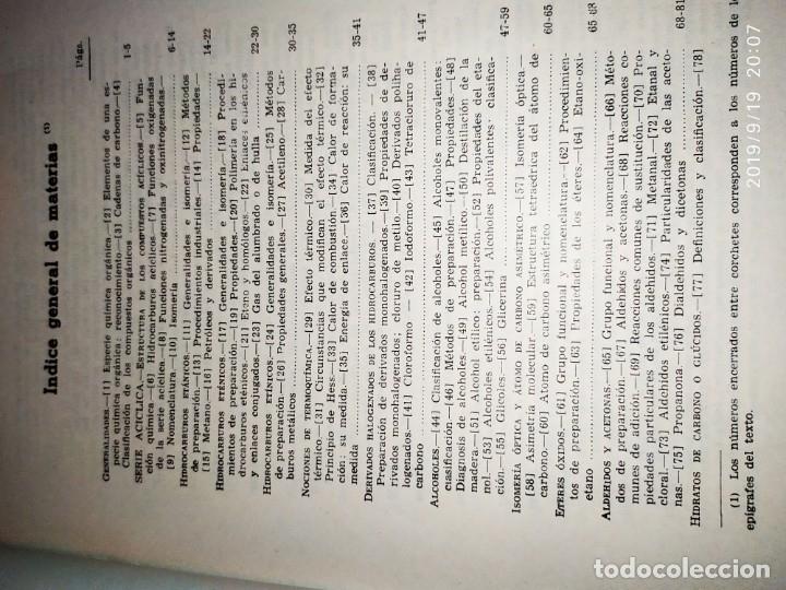 Libros de segunda mano de Ciencias: TOMO I TOMO II TRATADO DE QUÍMICA GENERAL ANTONIO IPIENS LACASA NOVENA FIRMADO AUTOR 1959 DEDICADO - Foto 11 - 176858293