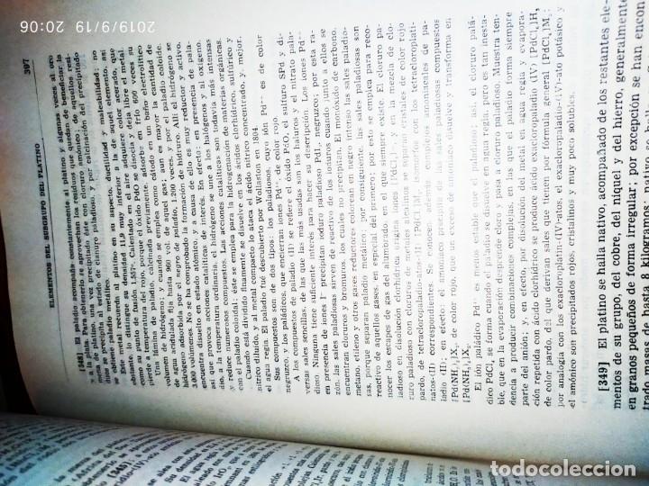 Libros de segunda mano de Ciencias: TOMO I TOMO II TRATADO DE QUÍMICA GENERAL ANTONIO IPIENS LACASA NOVENA FIRMADO AUTOR 1959 DEDICADO - Foto 12 - 176858293
