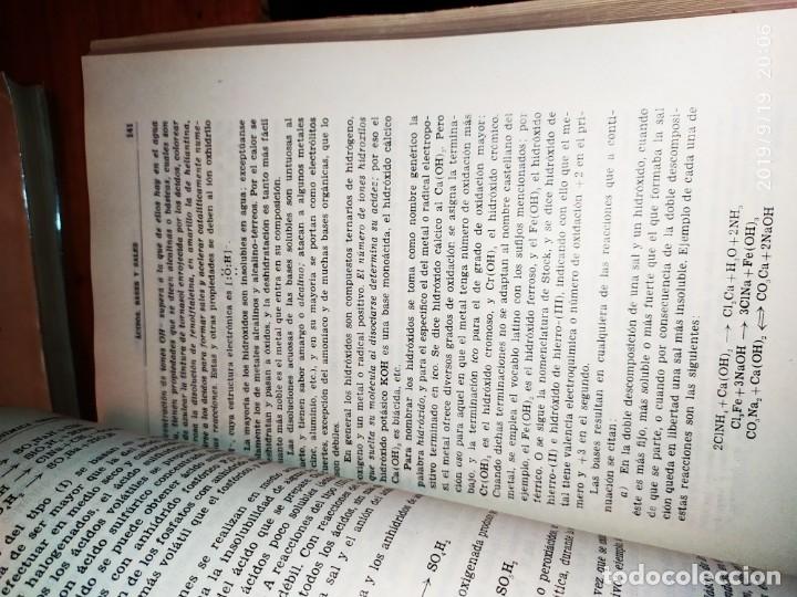 Libros de segunda mano de Ciencias: TOMO I TOMO II TRATADO DE QUÍMICA GENERAL ANTONIO IPIENS LACASA NOVENA FIRMADO AUTOR 1959 DEDICADO - Foto 18 - 176858293