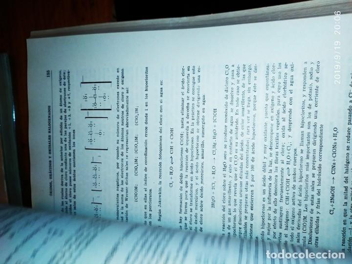 Libros de segunda mano de Ciencias: TOMO I TOMO II TRATADO DE QUÍMICA GENERAL ANTONIO IPIENS LACASA NOVENA FIRMADO AUTOR 1959 DEDICADO - Foto 20 - 176858293