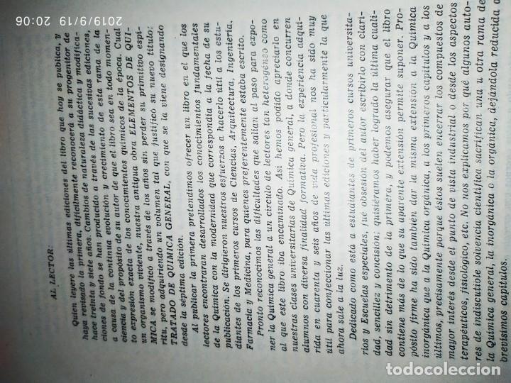 Libros de segunda mano de Ciencias: TOMO I TOMO II TRATADO DE QUÍMICA GENERAL ANTONIO IPIENS LACASA NOVENA FIRMADO AUTOR 1959 DEDICADO - Foto 22 - 176858293