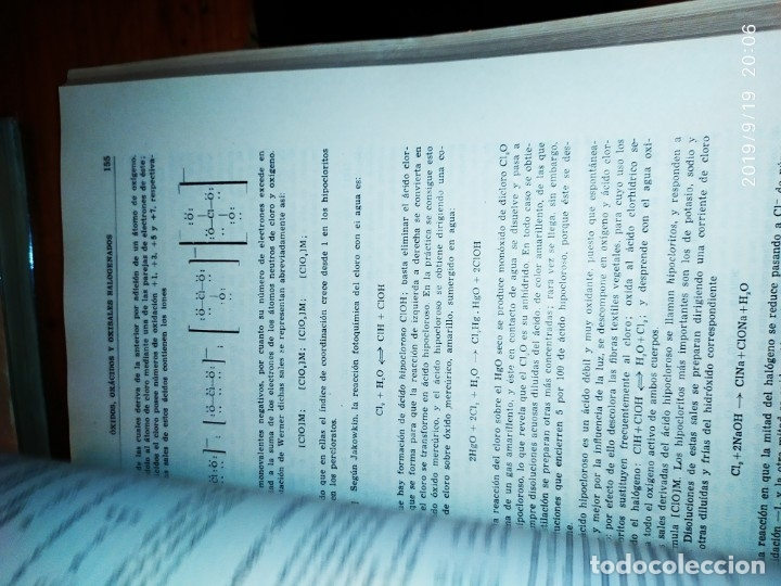 Libros de segunda mano de Ciencias: TOMO I TOMO II TRATADO DE QUÍMICA GENERAL ANTONIO IPIENS LACASA NOVENA FIRMADO AUTOR 1959 DEDICADO - Foto 37 - 176858293