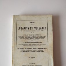 Libros de segunda mano de Ciencias: TABLAS DE LOGARITMOS VULGARES, VICENTE VAZQUEZ QUEIPO, 1974, TAPA BLANDA. Lote 178115518