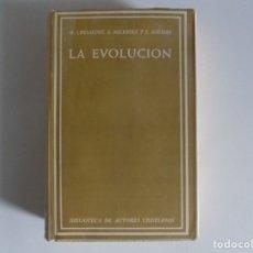 Libros de segunda mano: LIBRERIA GHOTICA. M. CRUSAFONT, B.MELENDEZ Y E. AGUIRRE. LA EVOLUCIÓN.1966.PAPEL BIBLIA.. Lote 178154602