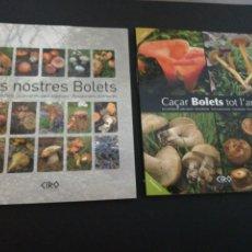 Libros de segunda mano: LOTE DOS LIBROS, ELS NOSTRES BOLETS + CAÇAR BOLETS TOT L'ANY. Lote 178251128