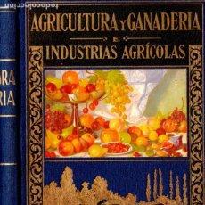 Libros de segunda mano: A. GARCÍA ROMERO : AGRICULTURA, GANADERÍA E INDUSTRIAS AGRÍCOLAS (SOPENA HISPANIA, 1939). Lote 178282043