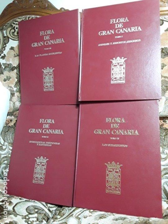 FLORA DE GRAN CANARIA (4 VOL., COMPLETA). KUNKEL. AÑOS 70. CON LÁMINAS. CANARIAS. (Libros de Segunda Mano - Ciencias, Manuales y Oficios - Biología y Botánica)