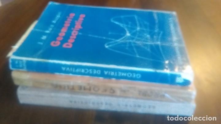 3LIBROS GEOMETRIA DESCRIPTIVA PROBLEMAS GRAFICOS GEOMETRIA APUNTES GEOMETRIA DESCRIPTIVA (Libros de Segunda Mano - Ciencias, Manuales y Oficios - Física, Química y Matemáticas)