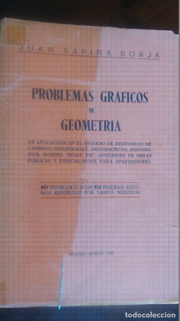 Libros de segunda mano de Ciencias: 3LIBROS GEOMETRIA DESCRIPTIVA PROBLEMAS GRAFICOS GEOMETRIA APUNTES GEOMETRIA DESCRIPTIVA - Foto 11 - 178976336