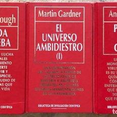 Libros de segunda mano: LOTE 3 LIBROS COLECCIÓN BIBLIOTECA DIVULGACIÓN CIENTÍFICA - LA VIDA A PRUEBA UNIVERSO AMBIDIESTRO. Lote 178977541