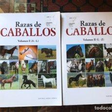 Libros de segunda mano: RAZAS DE CABALLOS. VOLUMEN I Y II. BUEN ESTADO. Lote 178992423