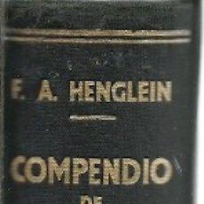 Libros de segunda mano de Ciencias: COMPENDIO DE TECNOLOGIA QUIMICA F A HENGLEIN MANUEL MARIN 1943 . Lote 179066772