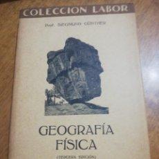 Libros de segunda mano: SIEGMUND GUNTHER, GEOGRÁFIA FISICA. Lote 179210198