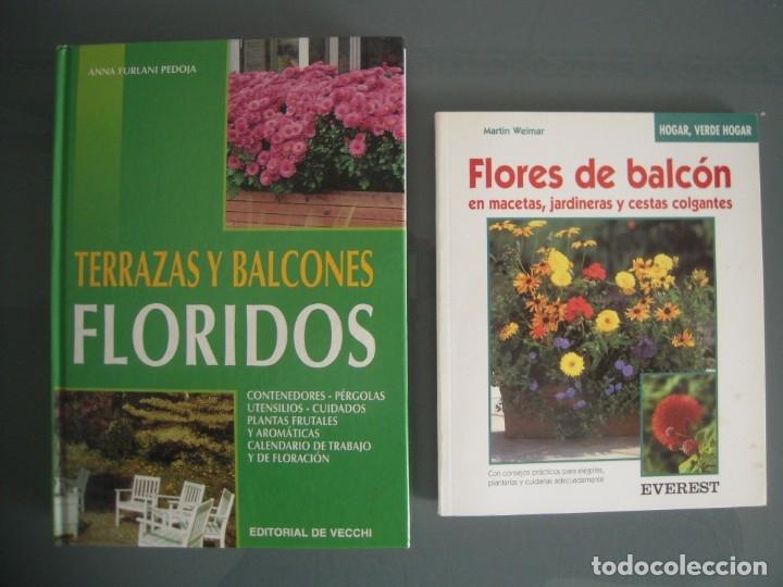 Lote 2 Libros Terrazas Y Balcones Floridos Y Flores De Balcon
