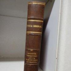 Libros de segunda mano de Ciencias: FISICA GENERAL - MECANICA - TERMOLOGIA - OPTICA- ELECTRICIDAD ATOMÍSTICA 1955. Lote 179342416