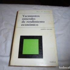 Libros de segunda mano: YACIMIENTOS MINERALES DE RENDIMIENTO ECONOMICO.AN M.BATEMAN.EDICIONES OMEGA.BARCELONA 1978.-5ª EDICI. Lote 180138213