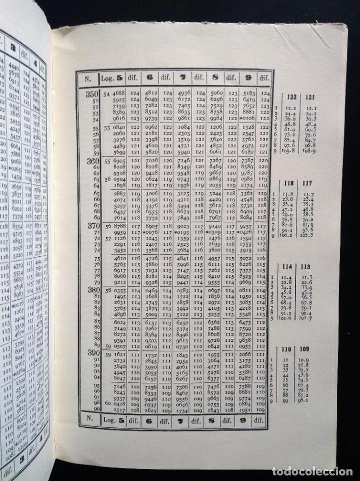 Libros de segunda mano de Ciencias: TABLAS DE LOS LOGARITMOS VULGARES | VICENTE VÁZQUEZ | HERNANDO 1974 - Foto 6 - 180282173
