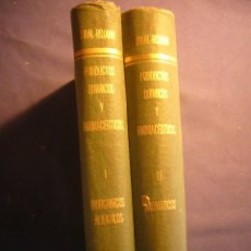 Libros de segunda mano de Ciencias: FRANCISCO GIRAL: - PRODUCTOS QUÍMICOS Y FARMACÉUTICOS (VOL 1 Y 2) - (MEXICO, 1946). Lote 180325917