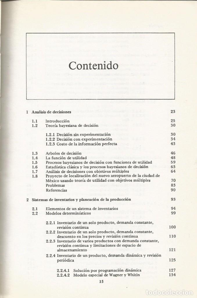 Libros de segunda mano de Ciencias: Métodos y modelos de investigación de operaciones. 2 vol. Juan Prawda. Matemáticas superiores. - Foto 2 - 180427783