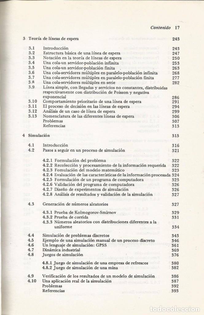 Libros de segunda mano de Ciencias: Métodos y modelos de investigación de operaciones. 2 vol. Juan Prawda. Matemáticas superiores. - Foto 3 - 180427783