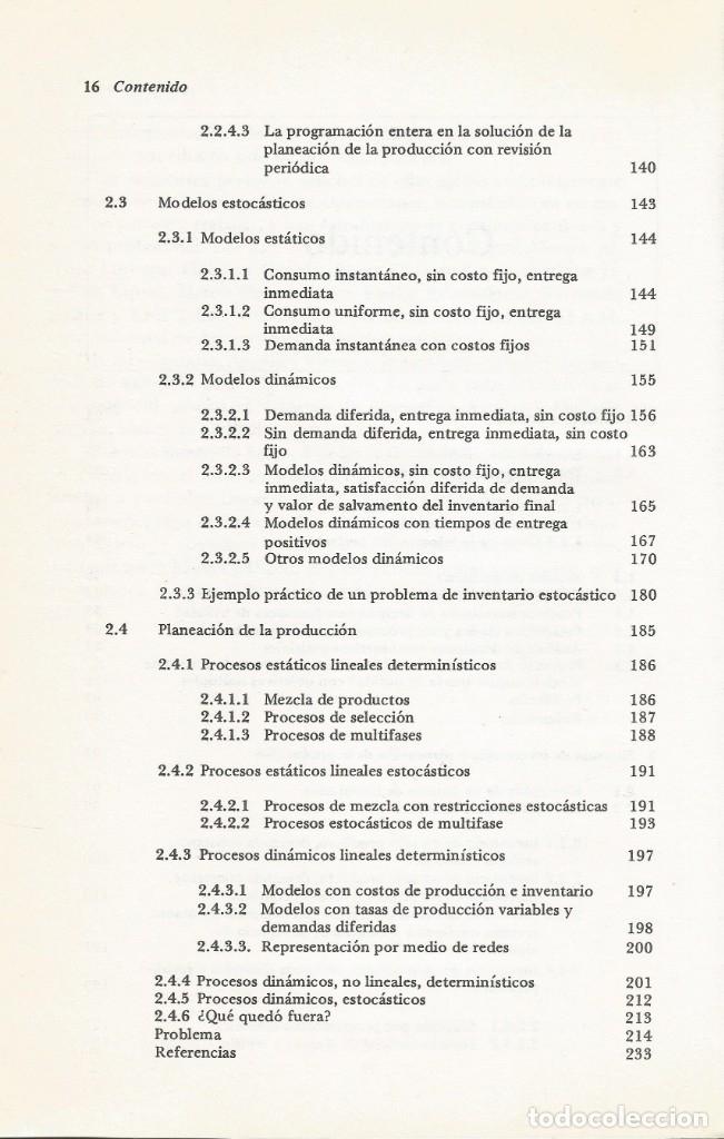 Libros de segunda mano de Ciencias: Métodos y modelos de investigación de operaciones. 2 vol. Juan Prawda. Matemáticas superiores. - Foto 5 - 180427783