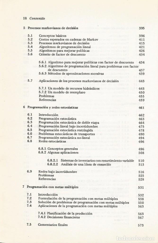 Libros de segunda mano de Ciencias: Métodos y modelos de investigación de operaciones. 2 vol. Juan Prawda. Matemáticas superiores. - Foto 6 - 180427783