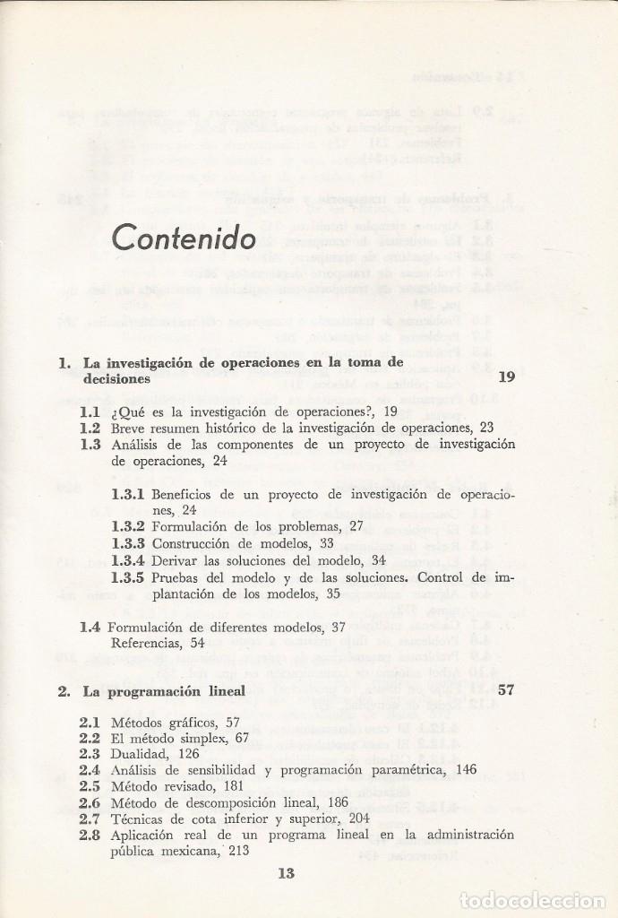 Libros de segunda mano de Ciencias: Métodos y modelos de investigación de operaciones. 2 vol. Juan Prawda. Matemáticas superiores. - Foto 7 - 180427783