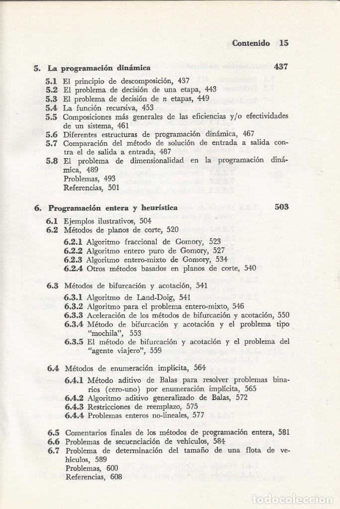 Libros de segunda mano de Ciencias: Métodos y modelos de investigación de operaciones. 2 vol. Juan Prawda. Matemáticas superiores. - Foto 8 - 180427783