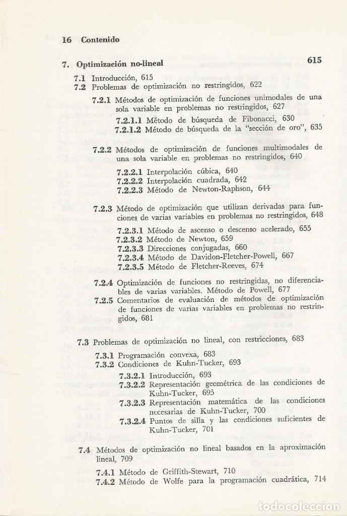 Libros de segunda mano de Ciencias: Métodos y modelos de investigación de operaciones. 2 vol. Juan Prawda. Matemáticas superiores. - Foto 10 - 180427783