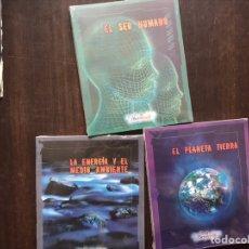 Libros de segunda mano: LLA ENERGÍA Y EL MEDIO AMBIENTE. EL SER HUMANO. EL PLANETA TIERNA. TRES LIBROS. PRECINTADOS. Lote 180906312