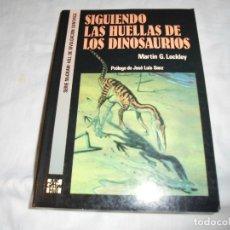 Libros de segunda mano: SIGUIENDO LAS HUELLAS DE LOS DINOSAURIOS.MARTIN G.LOCKLEY.EDITORIAL MCGRAW-HILL 1993. Lote 181137578