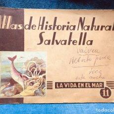 Libros de segunda mano: ATLAS HISTORIA NATURAL SALVATELLA LA VIDA EN EL MAR 1949. Lote 181418150