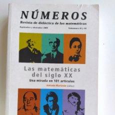 Libros de segunda mano de Ciencias: LAS MATEMÁTICAS DEL SIGLO XX. UNA MIRADA EN 101 ARTICULOS - ANTONIO MARTINON REVISTA NÚMEROS. Lote 181519968