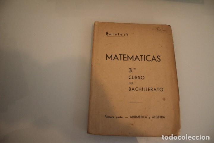 MATEMÁTICAS 3º CURSO DE BACHILLERATO (Libros de Segunda Mano - Ciencias, Manuales y Oficios - Física, Química y Matemáticas)