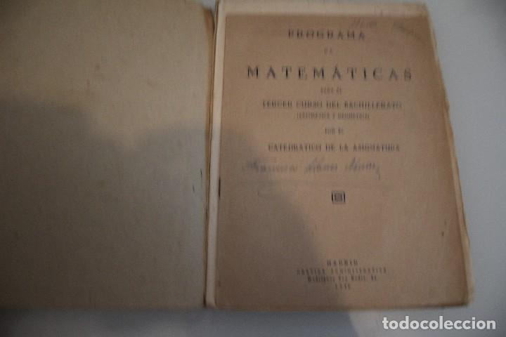 Libros de segunda mano de Ciencias: MATEMÁTICAS 3º CURSO DE BACHILLERATO - Foto 2 - 181667337