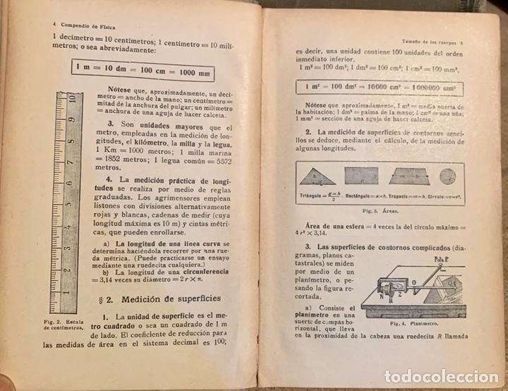 Libros de segunda mano de Ciencias: 1938, COMPENDIO DE FÍSICA Y QUÍMICA. Juan Kleiber y José Estalella. - Foto 8 - 181906467