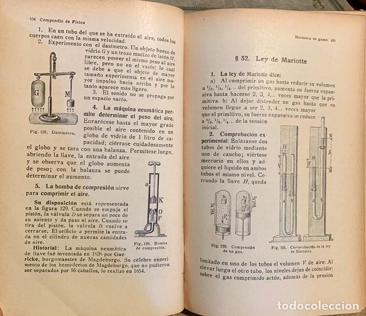 Libros de segunda mano de Ciencias: 1938, COMPENDIO DE FÍSICA Y QUÍMICA. Juan Kleiber y José Estalella. - Foto 10 - 181906467