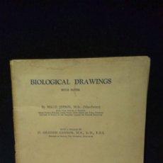 Libros de segunda mano: BIOLOGICAL DRAWINGS WITH NOTES PART 1 - 1944. Lote 181948163