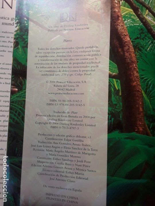 Libros de segunda mano: Planta, de Janet Marinelli (ed.). Excelente estado. Royal Botanic Gardens Kew. Pearson Alhambra. - Foto 3 - 235286280