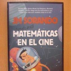 Libri di seconda mano: AVENTURAS MATEMATICAS EN EL CINE / J.M. SORANDO / 2015. GUADALMAZAN. Lote 182101798