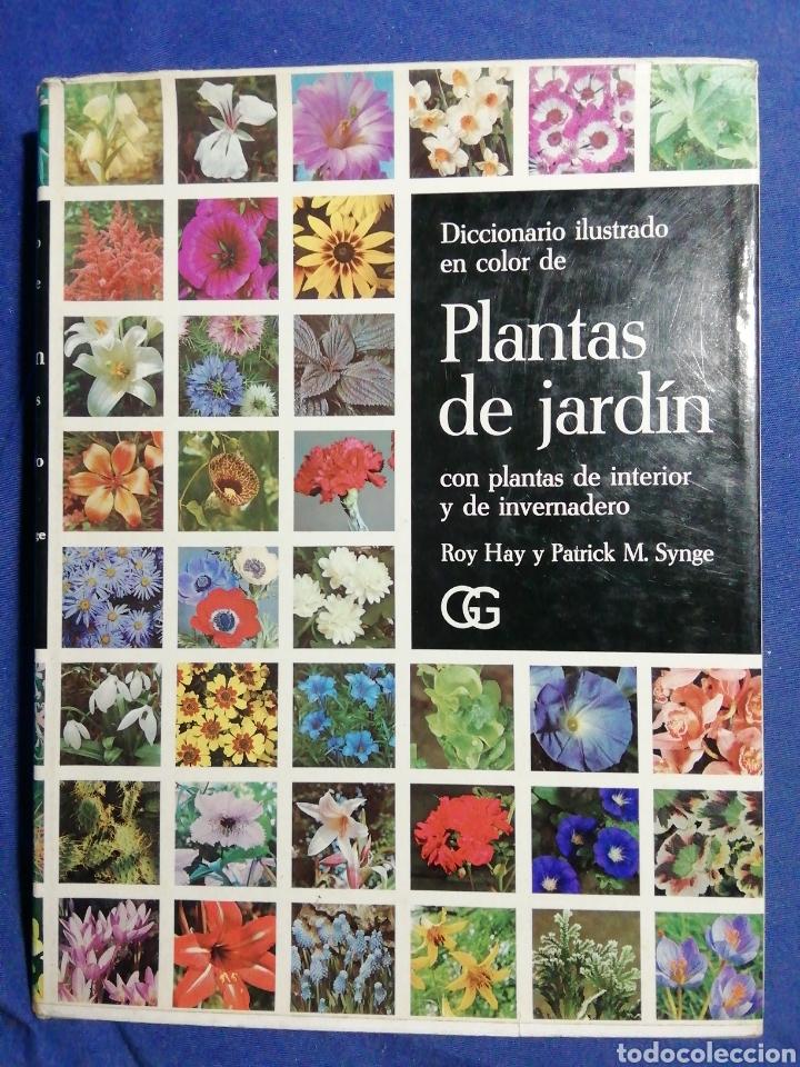 DICCIONARIO ILUSTRADO EN COLOR DE PLANTAS DE JARDÍN CON PLANTAS DE INTERIOR Y DE INVERNADERO. (Libros de Segunda Mano - Ciencias, Manuales y Oficios - Biología y Botánica)