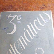 Libros de segunda mano de Ciencias: ANTIGUO LIBRO DE 1955 3° MATEMÁTICAS DE ALFONSO GIRONZA. Lote 182507413