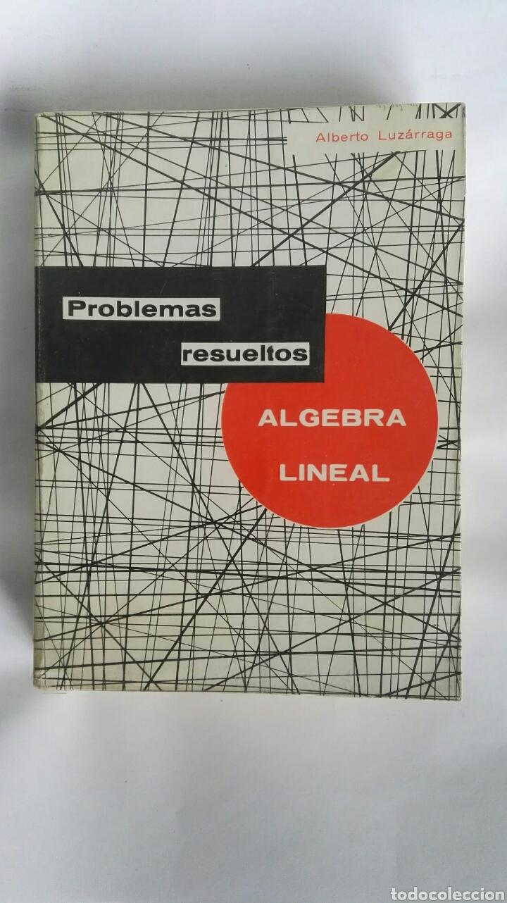 ÁLGEBRA LINEAL PROBLEMAS RESUELTOS (Libros de Segunda Mano - Ciencias, Manuales y Oficios - Física, Química y Matemáticas)