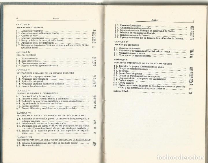 Libros de segunda mano de Ciencias: Álgebra lineal y algunas de sus aplicaciones. L. I. Golovina. 2a. edición. Editorial Mir. - Foto 3 - 182723313