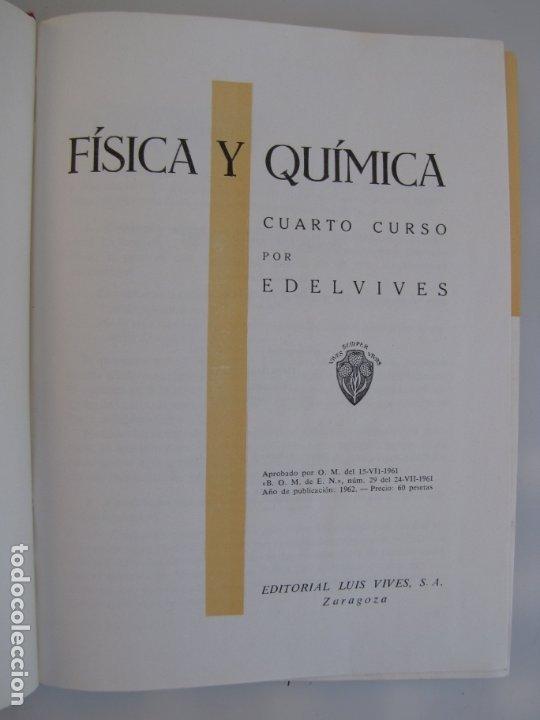 Libros de segunda mano de Ciencias: Física y química. Edelvives. 1961. Cuarto curso - Foto 3 - 182836547
