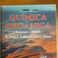 Libros de segunda mano de Ciencias: QUÍMICA ORGÁNICA. ESTRUCTURA Y FUNCIÓN. VOLLHARDT (K. PETER C.), SCHORE (NEIL E.) BARCELONA, OMEGA,. Lote 183295170